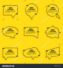 quote speech bubble vector design template stock vector 377112043