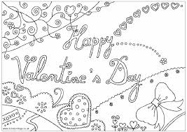 happy valentines coloring pages getcoloringpages