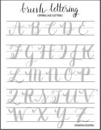 free lettering practice worksheets from tombow typo pinterest