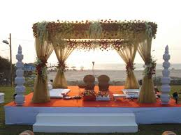 Wooden Tent by Wedding Decoration Ideas Outdoor Indian Wedding Decorations With