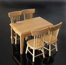 Miniature Dollhouse Kitchen Furniture Miniature Chairs Dolls House Miniature Table And Chairs By