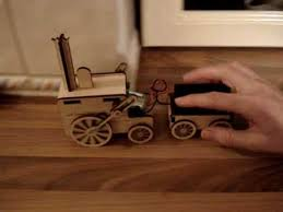 Plans For Wooden Toy Trains by Making A Laser Cut Toy Train Youtube