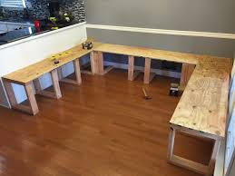 Wood Table With Metal Legs Coffee Tables Attractive Cool Diydiningbooth Plywoodseattops