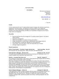Fleet Engineer Resume 100 Curriculum Vitae For Operations Manager Teacher Resume