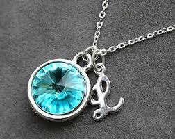 zircon blue necklace images Blue zircon necklace etsy jpg