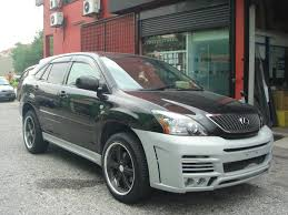 toyota harrier 2012 malaysia body kit spoiler door visor accessories performance