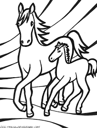 horse coloring pages u2013 birthday printable