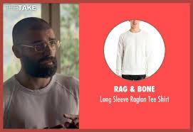 oscar isaac rag u0026 bone long sleeve raglan tee shirt from ex