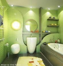 Green Bathroom Ideas by Bathroom With Bright Light White Tub Wall Decoer And Green Wall