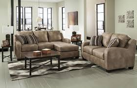 contemporary faux leather sofa chaise by benchcraft wolf and