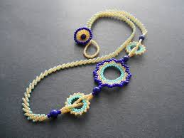 beaded necklace design images How to make circular peyote beaded necklace tutorial the beading JPG