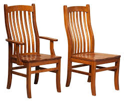 rustic dining chair mission style woodland creek furniture mission