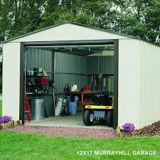 rowlinson murryhill metal apex garage 12x24 garden street