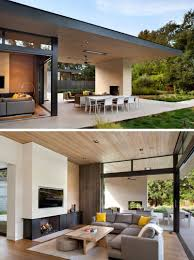 Modern Hosue this california home preserved the existing trees to maintain a