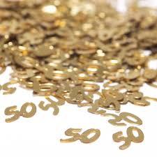 50th wedding anniversary party favors amazon com 50 gold confetti toys u0026 games