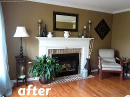 living room make over tan white blue tan paint colors tan
