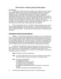 Resume Description Examples by 9 Best Images Of Job Description Resume Writing Tips How To Put