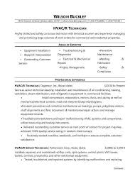 Sample Resume For Air Conditioning Technician by Heating Air Conditioning U0026 Refrigeration Mechanic Free Sample