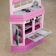 Pretend Kitchen Furniture American Plastic Toys Deluxe Custom Kitchen With 22 Accessories