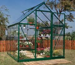 Palram Polycarbonate Greenhouse Palram Harmony 6x6 Greenhouse In Green Gardensite Co Uk