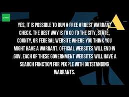 do bench warrants show up on background checks can you check for warrants online youtube