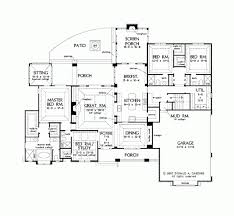 Single Storey Floor Plans by One Story House Plans With Open Floor Plans Design Basics Open One
