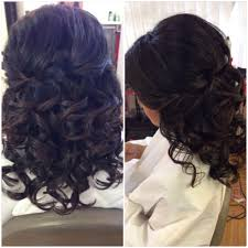 half up updo curls short hairstyles wedding hair bridal hair