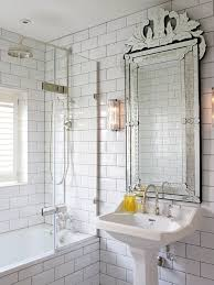 Mirror Bathroom Tiles Designer Wall Mirrors Bathroom Transitional With White Subway Tile