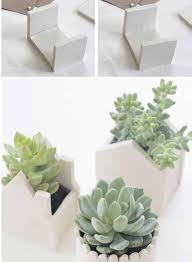 Make A Brick Succulent Planter - make modern succulent pots out of air dry clay garden