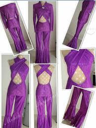 selena quintanilla purple jumpsuit selena quintanilla costume purple criss cross jumpsuit clothing