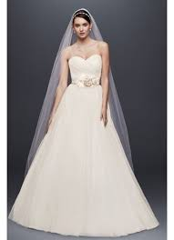 Simple Wedding Dresses Tulle Wedding Dress With Sweetheart Neckline David U0027s Bridal