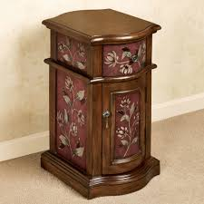 Chair Side Table With Storage Sophie Floral Chairside Cabinet
