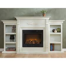 holly u0026 martin fredricksburg electric fireplace with bookcases in
