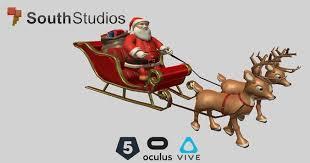animated santa sleigh 3d model cgtrader