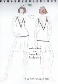 fashion sketch flapper dress for clara bow u2013 we heart vintage