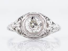 antique engagement ring art deco 78ct old european cut diamond in