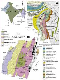 Map Of Northern India by A Geological Map Of Eastern Himalaya Indo Myanmar Orogenic