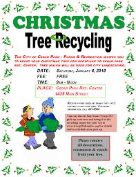 tree recycling city of cedar park