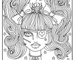 creepy coloring pages fun coloring books printables jewelry and art by chubbymermaid