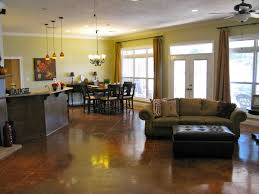kitchen family room layout ideas decorating blue and brown family room ideas with wood flooring