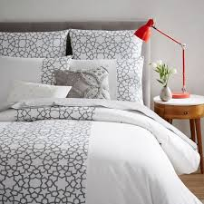 West Elm Bedroom Sale Embroidered Star Duvet Cover Shams West Elm Too Much White But