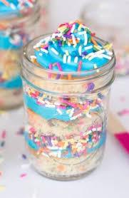 jar cakes sprinkles birthday cake in jars spaceships and laser beams