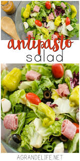 this antipasto salad is the perfect side dish for your next pizza