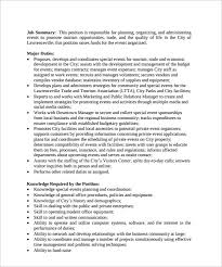 Event Planning Resume Samples by Event Coordinator Resume Marketing Event Coordinator Resume