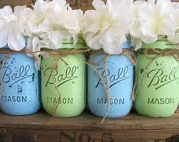 Ball Jar Centerpieces by Sale Set Of 4 Pint Mason Jars Ball Jars Painted Mason