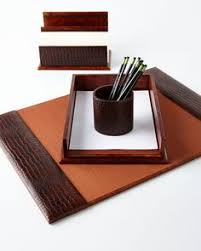 Brown Leather Desk Accessories S Day Gifts Masculine Desk Accessories A Home Office For