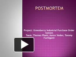 ppt u2013 postmortem powerpoint presentation free to view id