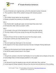 Context Clues Worksheet 5th Grade 4 Grade Dictation Sentences