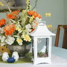 white lantern centerpieces white lantern centerpiece from a thrift store find 3