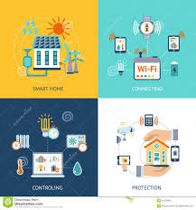smart house design concept flat stock vector image 54339919